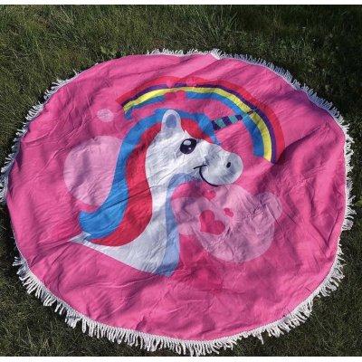 Пляжное полотенце из микрофибры - Сказочный единорожка