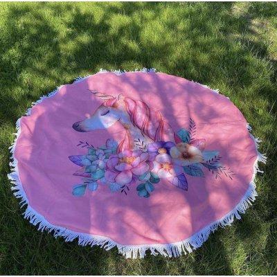 Пляжное полотенце из микрофибры - Единорог