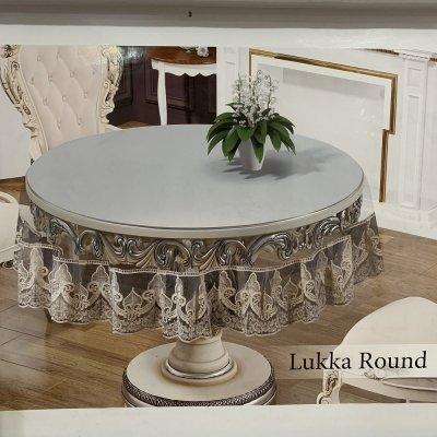 Силиконовая скатерть на круглый стол (160см) Капучино - Lukka Round