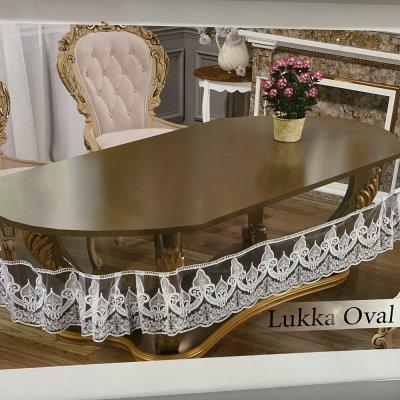 Силиконовая скатерть на овальный стол (160х220см) Капучино - Lukka Oval