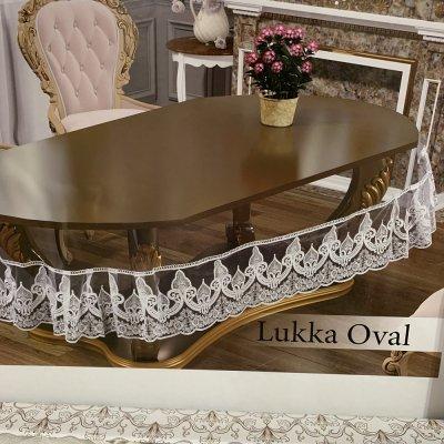 Силиконовая скатерть на овальный стол (160х260см) Krem - Lukka Oval