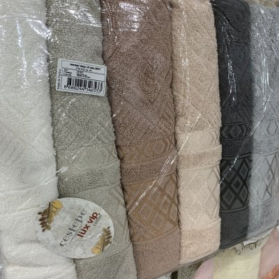 Турецкие полотенца Lux VIP Cotton (6шт.-70х140 см) - Sanya
