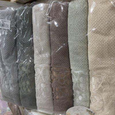 Турецкие полотенца Lux Vip Cotton (6шт.-70х140 см) - Valeria