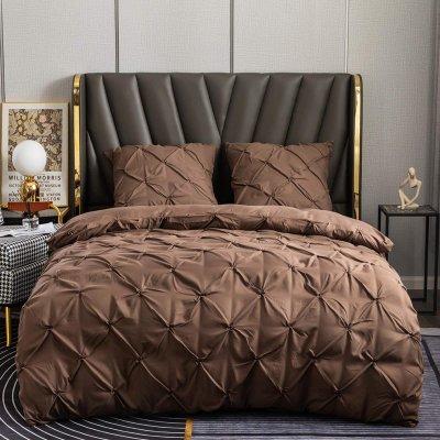 Евро постельное белье Luxury Collection - Коричневое