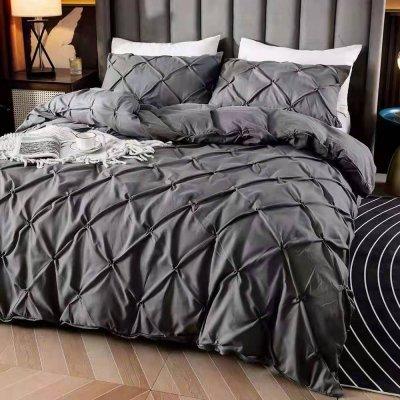 Двуспальное постельное белье Luxury Collection - Темно серое