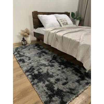 Мягкий пушистый коврик с высоким ворсом - Серый