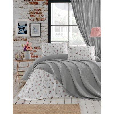 Комплект постельного белья с вафельным покрывалом DO&CO - Gri