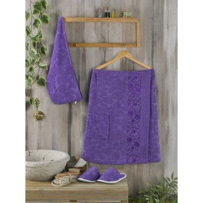 Женский набор в сауну Philippus - Фиолетовый