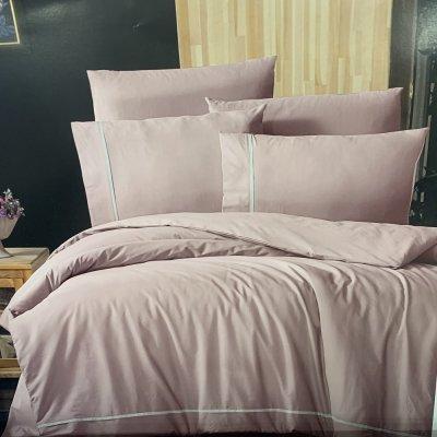 Евро постельное белье First Choice Deluxe Ranforce  (100% хлопок) - Alisa Powder