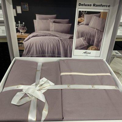 Евро постельное белье First Choice Deluxe Ranforce  (100% хлопок) - Alisa Lilac