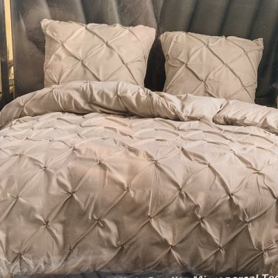 Евро постельное белье Luxury Collection - Бежевое