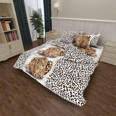 Постельное белье София 3D - Взгляд леопарда