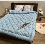Одеяло лето ткань Микрофибра наполнитель Силикон 200грм/м2 - 145х210 (голубой)