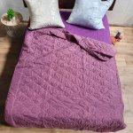 Одеяло лето ткань Микрофибра наполнитель Силикон 100грм/м2 - 195х210 (сирень)