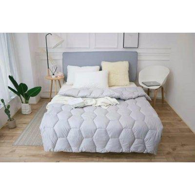 Одеяло зима ткань Микрофибра наполнитель Холлофайбер - Соты - 145х210 (слоновая кость)