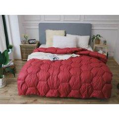 Одеяло зима ткань Микрофибра наполнитель Холлофайбер - Соты - 175х210 (красное)