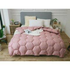 Одеяло зима ткань Микрофибра наполнитель Холлофайбер - Соты - 195х210 (персик)