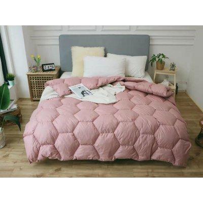 Одеяло зима ткань Микрофибра наполнитель Холлофайбер - Соты - 145х210 (персик)