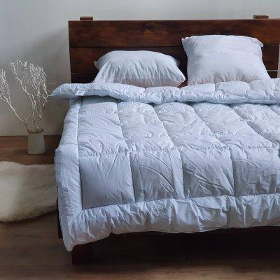 Одеяло тик Лебединый пух(искусственный пух) - 195х210 - электрик