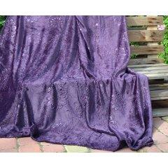 Плед короткий ворс двусторонний - Шарм - Фиолетовый