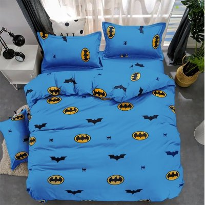 Детская Бязь Gold - Бэтмен синий