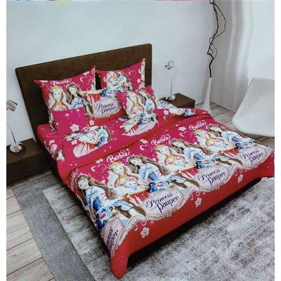 Полуторное постельное белье Бязь Gold - Принцесса Барби