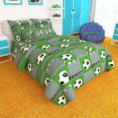 Детская Бязь Ranforse - Мяч на зеленом поле