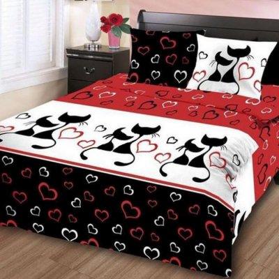 Двуспальное постельное белье Бязь Gold - Кошечки