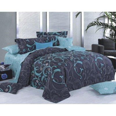 Полуторное постельное белье Бязь Gold - Изумруд