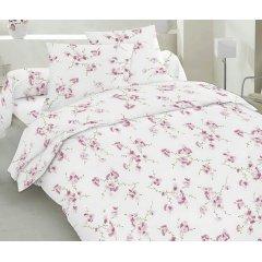 Двуспальное постельное белье Бязь Gold - Сакура красная