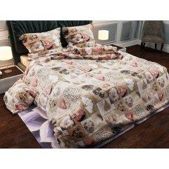 Двуспальное постельное белье Бязь Gold - Сердечки лофт