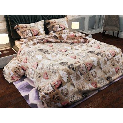 Полуторное постельное белье Бязь Gold - Сердечки лофт