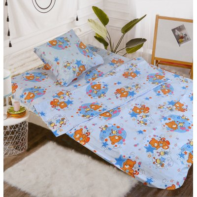 Детское постельное белье в кроватку - Бязь Gold - Спящий мишка