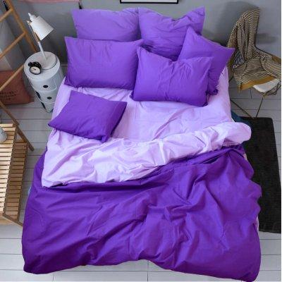 Постельное белье Бязь Премиум - Сиреневый с фиолетовым
