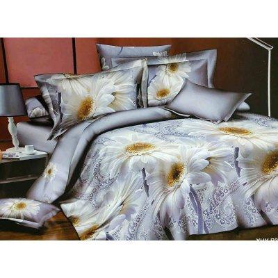 Постельное белье Бязь Ranforse - Ромашка белая на голубом