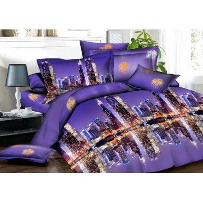 Двуспальное постельное белье Бязь Ranforse (100% хлопок) - Ночной Нью Йорк