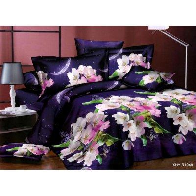 Полуторное постельное белье Бязь Ranforse (100% хлопок) - Ночная сказка