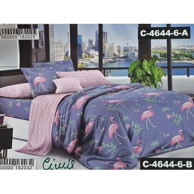 Семейное постельное белье Бязь Ranforse (100% хлопок) - Фламинго в затоке