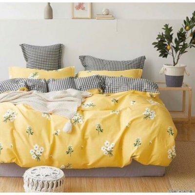 Семейное постельное белье Бязь Ranforse (100% хлопок) - Ромашковое поле