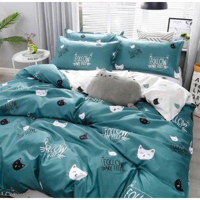 Двуспальное постельное белье Бязь Ranforse (100% хлопок) - Киттикет