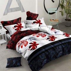 Двуспальное постельное белье Бязь Ranforse (100% хлопок) - Цветок пустыни