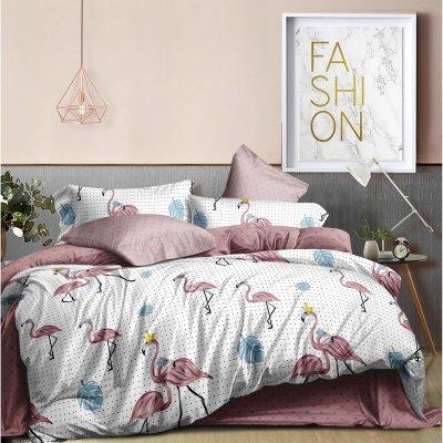 Семейное постельное белье Бязь Ranforse (100% хлопок) - Царский фламинго