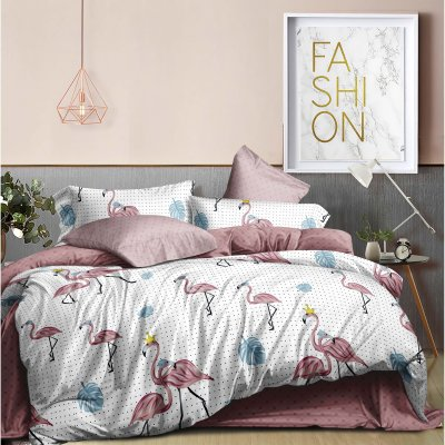 Постельное белье Бязь Ranforse - Царский фламинго