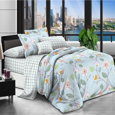 Двуспальное постельное белье Бязь Ranforse (100% хлопок) - Утренняя свежесть