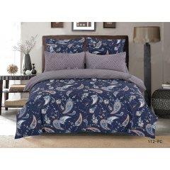 Полуторное постельное белье Сатин Люкс (100% хлопок) - PC 112 (50х70)
