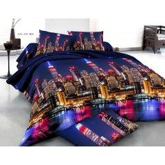 Полуторное постельное белье София 3D (микросатин) - Сан Франциско