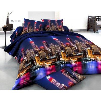Семейное постельное белье София 3D (микросатин) - Сан Франциско