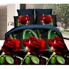 Полуторное постельное белье София 3D (микросатин) - Ария