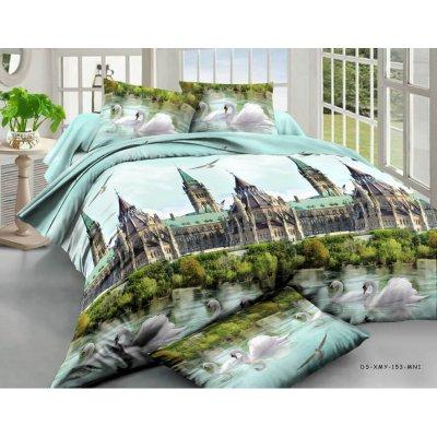 Постельное белье София 3D - Лебеди и замок