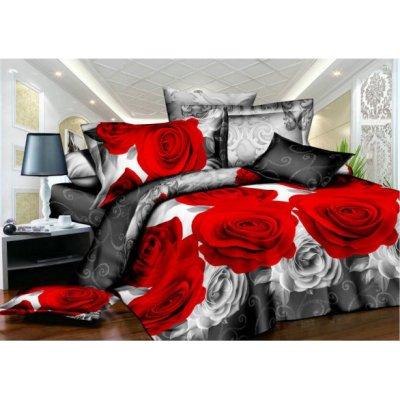 Полуторное постельное белье София 3D (микросатин) - Пальмира